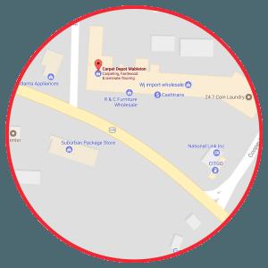 Carpet Depot Mableton Map
