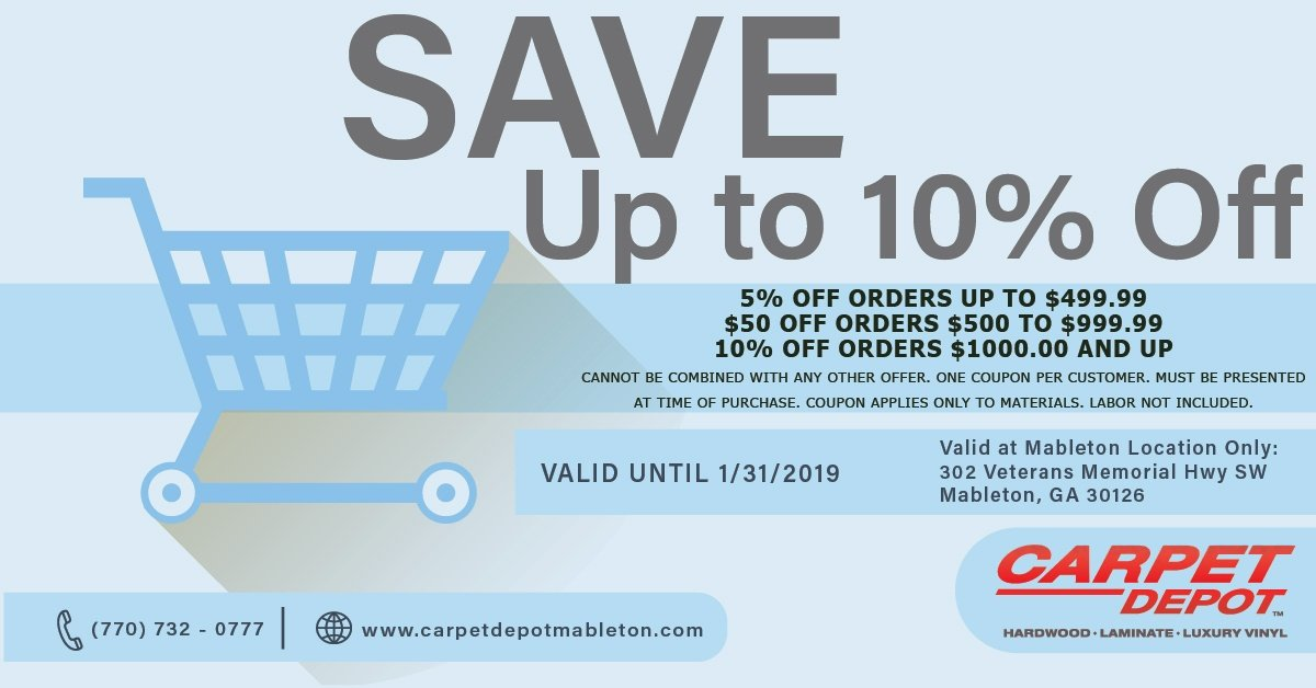 January 2019 Coupon Carpet Depot