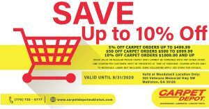 August 2020 Carpet Coupon Mableton